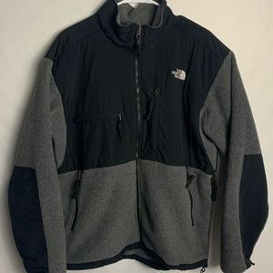 The North Face Denali Grey And Black Men's Jacket